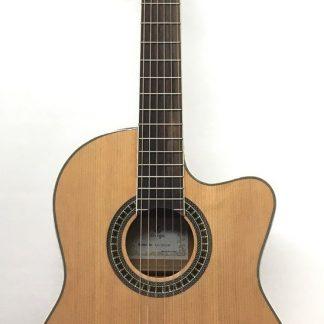 גיטרה קלאסית דקה מוגברת OMEGA CG-304CE-YN C.WAY