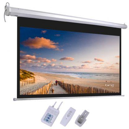 מסך הקרנה חשמלי 2.13X2.13 מטר Jeason Screen