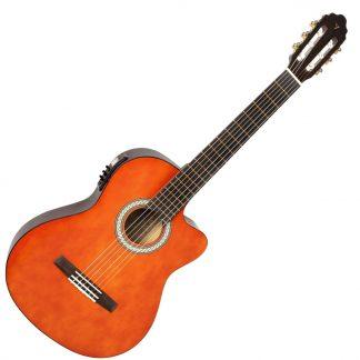 גיטרה קלאסית מוגברת LAG 4S100NCE CUT AWAY