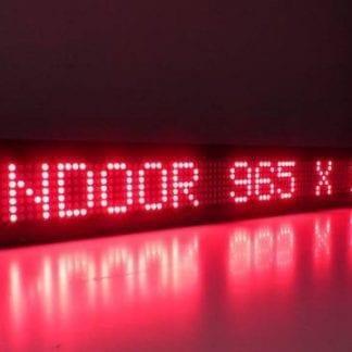 """שלט לד 102X22 ס""""מ – אדום"""