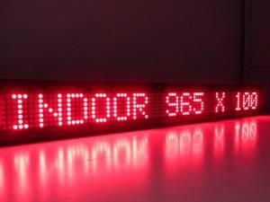"שלט לד 100X16 ס""מ – אדום indoor"
