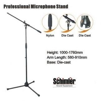 סטנד מיקרופון מקצועי Schimler S-12