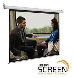 מסך הקרנה חשמלי 150″ (16:9) Jeason Screen