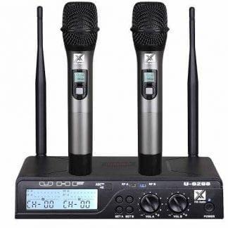 זוג מיקרופונים אלחוטיים TRX Audio U-6988 תדר משתנה