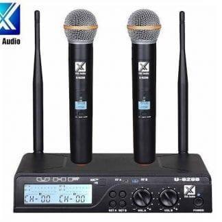 זוג מיקרופונים אלחוטיים TRX Audio U-6298 תדר משתנה