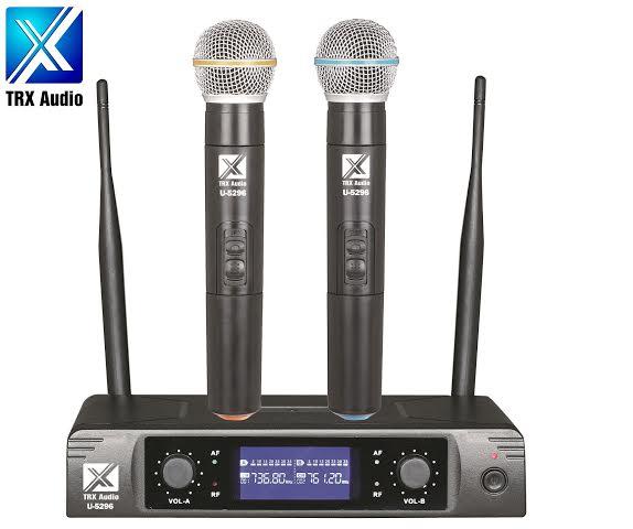 מצטיין זוג מיקרופונים אלחוטיים TRX Audio U-5296 מהיבואן   ענק הסאונד OG-71