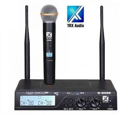 מיקרופון אלחוטי TRX Audio U-6098 תדר משתנה
