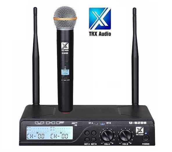 מתקדם מיקרופון אלחוטי TRX Audio U-6098 תדר משתנה מהיבואן   ענק הסאונד PB-17