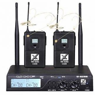 זוג מדונות אלחוטיות מבית TRX Audio U-6298 תדר משתנה