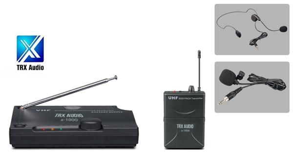 מיקרופון מדונה אלחוטי מבית TRX Audio X1000 ללא חיבור לחשמל!!!