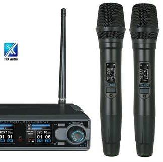 זוג מיקרופונים אלחוטיים מבית TRX Audio X5000 תדר משתנה