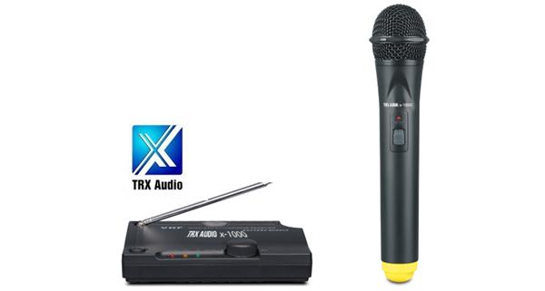 מיקרופון אלחוטי מבית TRX Audio X1000 ללא חיבור לחשמל!!!