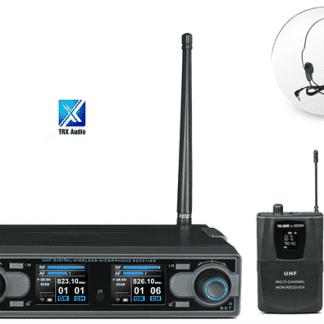 זוג מיקרופון מדונה אלחוטיים מבית TRX Audio X5000 תדר משתנה