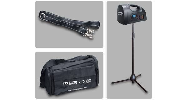 בידורית ניידת מקצועית כולל מיקרופון TRX AUDIO X2000