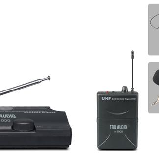 מיקרופון דש אלחוטי בודד מבית TRX Audio X1000 ללא חיבור לחשמל!!!