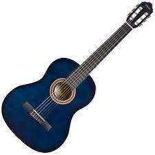 גיטרה קלאסית 3/4 אלברטו מנצ'יני BLUE