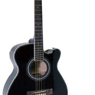 גיטרה אקוסטית איכותית מבית  C38 black CEHARD