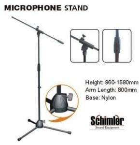 סטנדים איכותיים למיקרופון ולמערכות הגברה של חברת Schimler