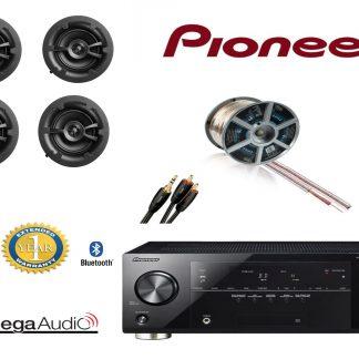 חבילה: רמקולים שקועים Omega W62 + רסיבר Pioneer + כבלים