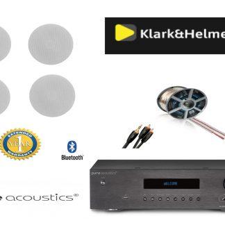 חבילה: רמקולים שקועים Klark & Helmer + רסיבר PureAcoustics + כבלים